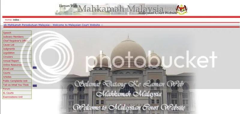 Laman Web Mahkamah Persekutuan Malaysia