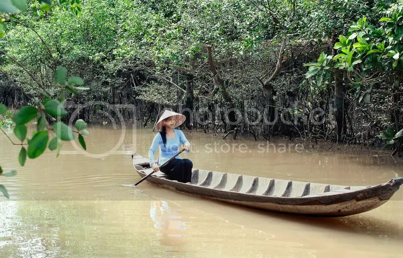 A lady in Mekong Delta, Vietnam