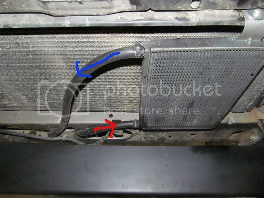 medium resolution of the bottom line is attached to the line going out of the bottom of the radiator with the hot fluid