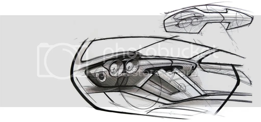 Sketch Of The Mercedes-Benz SLS AMG Dashboard Photo by SLS