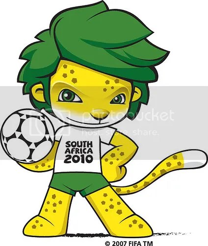 Mascota oficial del mundial de fútbol de Sudáfrica 2010.