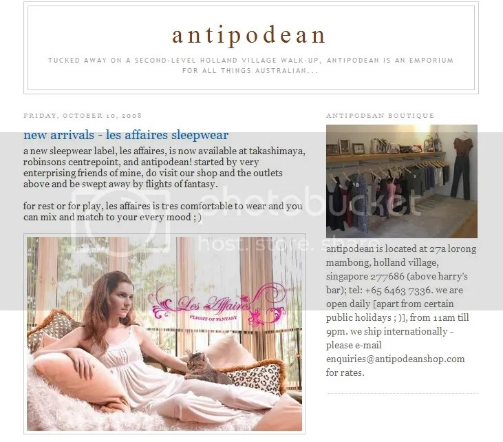 We're featured in Antipodean!