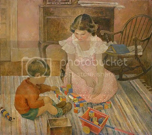 Child Playing by Frances Foy
