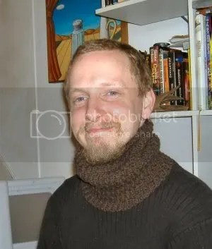 neck warmer being modeled