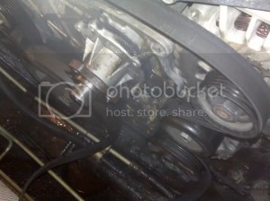 How to replace water pump (pics)  Chevy TrailBlazer