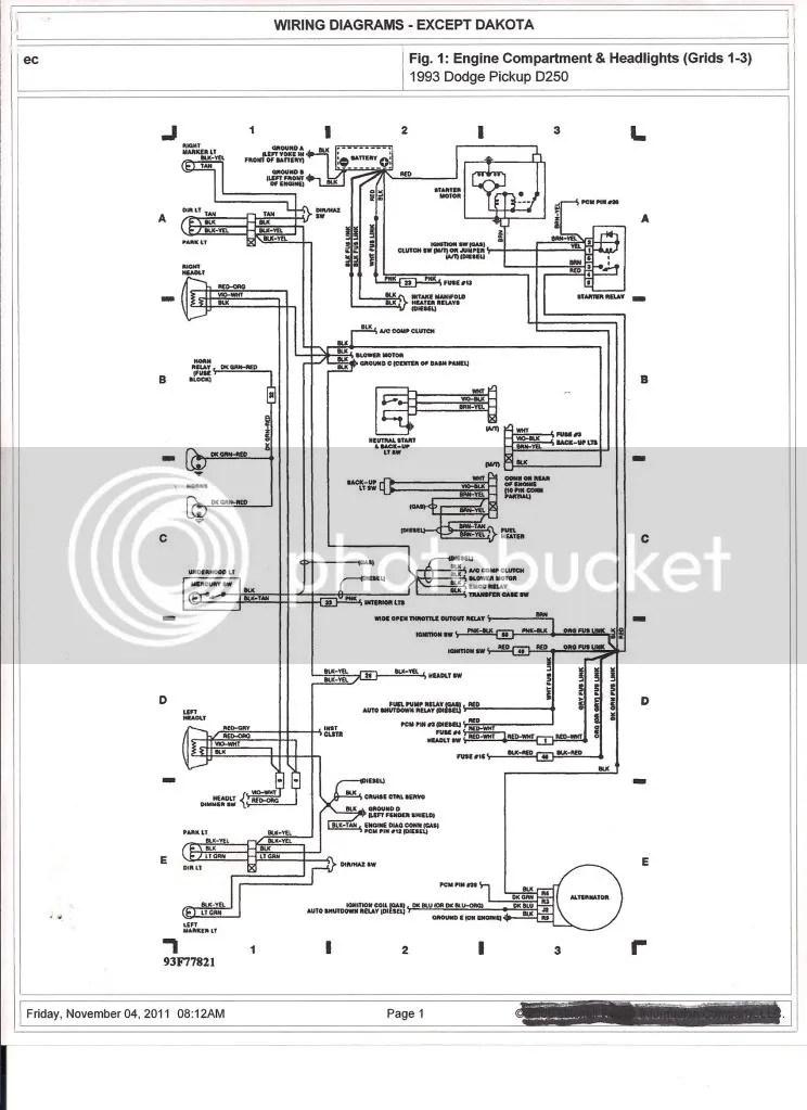 92 Dodge Diesel Wiring Harnes