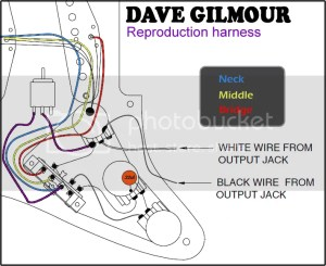 Dave Gilmour Deluxe PreWired Stratocaster Wiring Kit With Recessed Mini Toggle | eBay