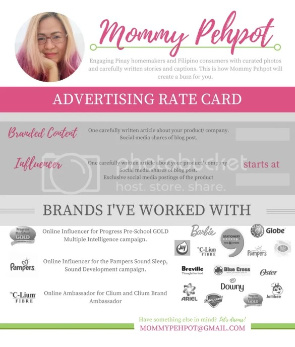 Design your blogger rate card.