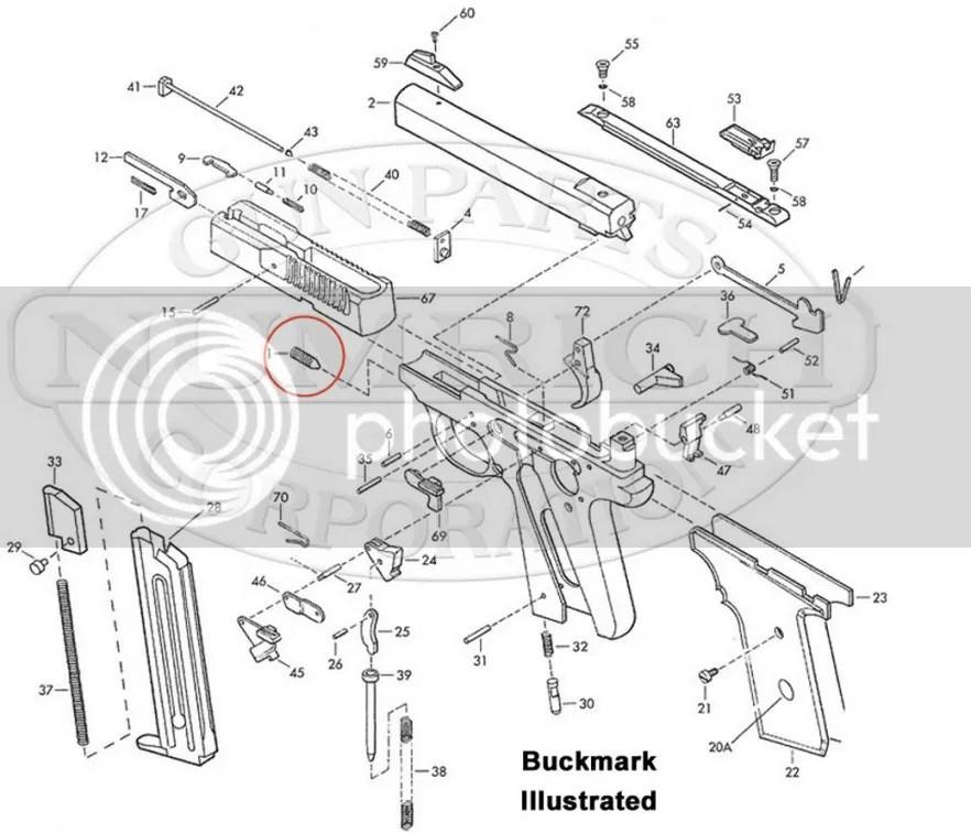Removing barrel from Browning Buckmark pistol