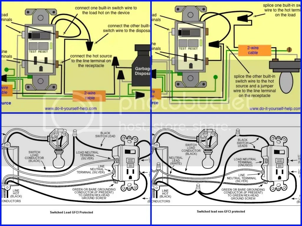 hight resolution of wiring diagram gfi outlet switch combo