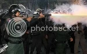 Thai tear gas