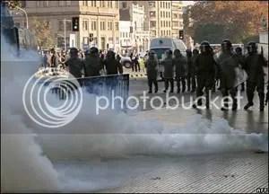 tear gas chile