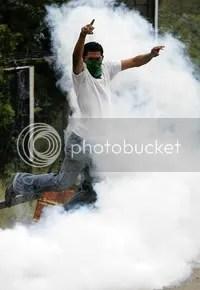 demonstrator jumps
