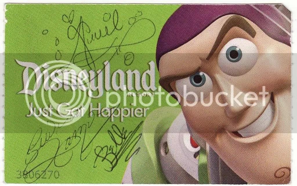 Disney Princesses sign our ticket