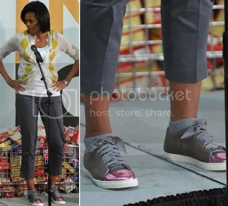 Michelle Obama $450 sneakers