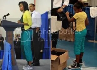 Obama matching outfit