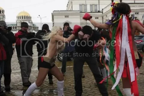 Femen topless fights