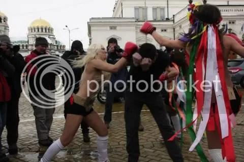 Femen topless fights