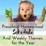Our Preschool Homeschool Schedule