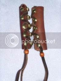 Graydog sticks, leather slides, leather braid wrap