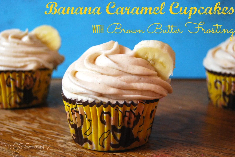 Banana-Carmel-Cupcakes   The TipToe Fairy