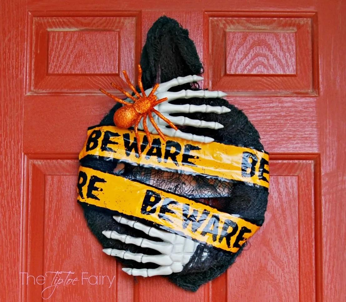 Beware of Monster Wreath & Dollar Tree Anniversary Celebration   The TipToe Fairy #DTAnniversary #ad #halloweendecor #halloween #wreathtutorial #halloweentutorial