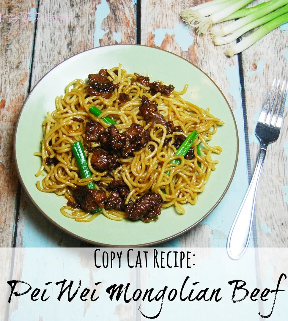 Copy Cat Pei Wei Mongolian Beef with Noodles - a super easy recipe that tastes just like the real thing! | The TipToe Fairy #peiwei #copycat