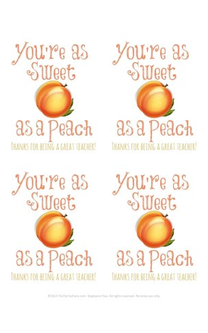 Peaches and Cream Pie Cookies with a Printable for Teacher Appreciation   The TipToe Fairy