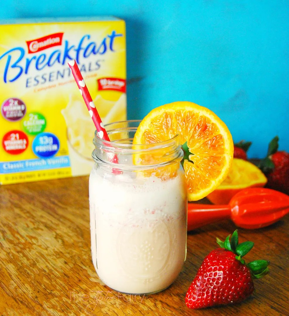 Blood Orange Strawberry Smoothie | The TipToe Fairy #Breakfast Essentials #pmedia #ad
