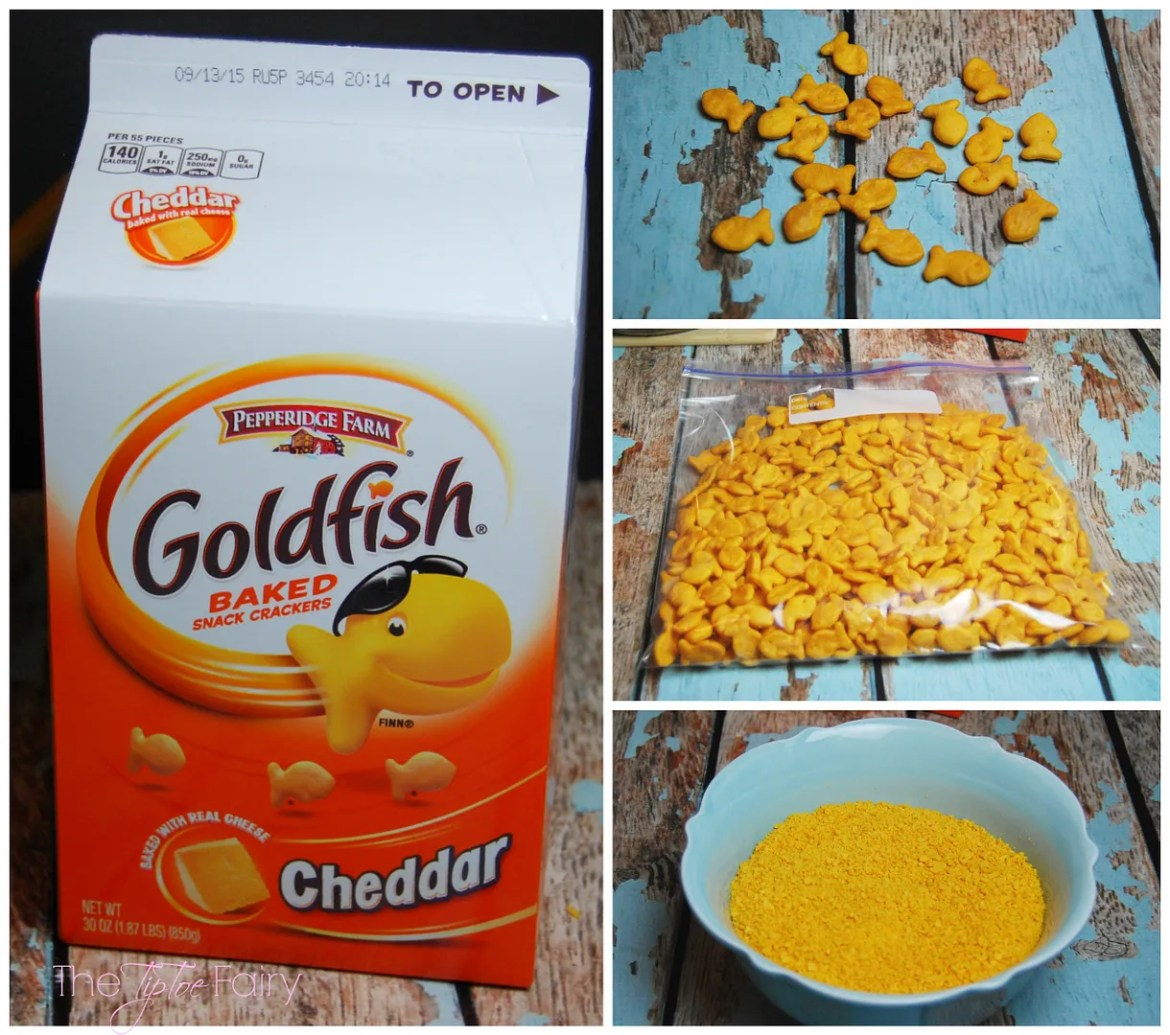Fried Mac n Cheese Balls with Goldfish Crackers!! The perfect game time snack for kids and adults! | The TipToe Fairy @Walmart GoldfishMix #Ad