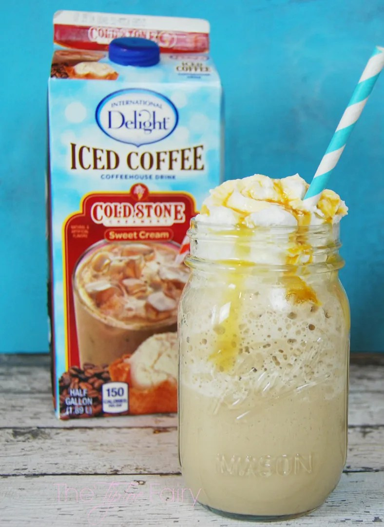 #IcedDelight Sweet Toffee Cream Frozen Coffee | The TipToe Fairy #coffeedrinks #coffeerecipes