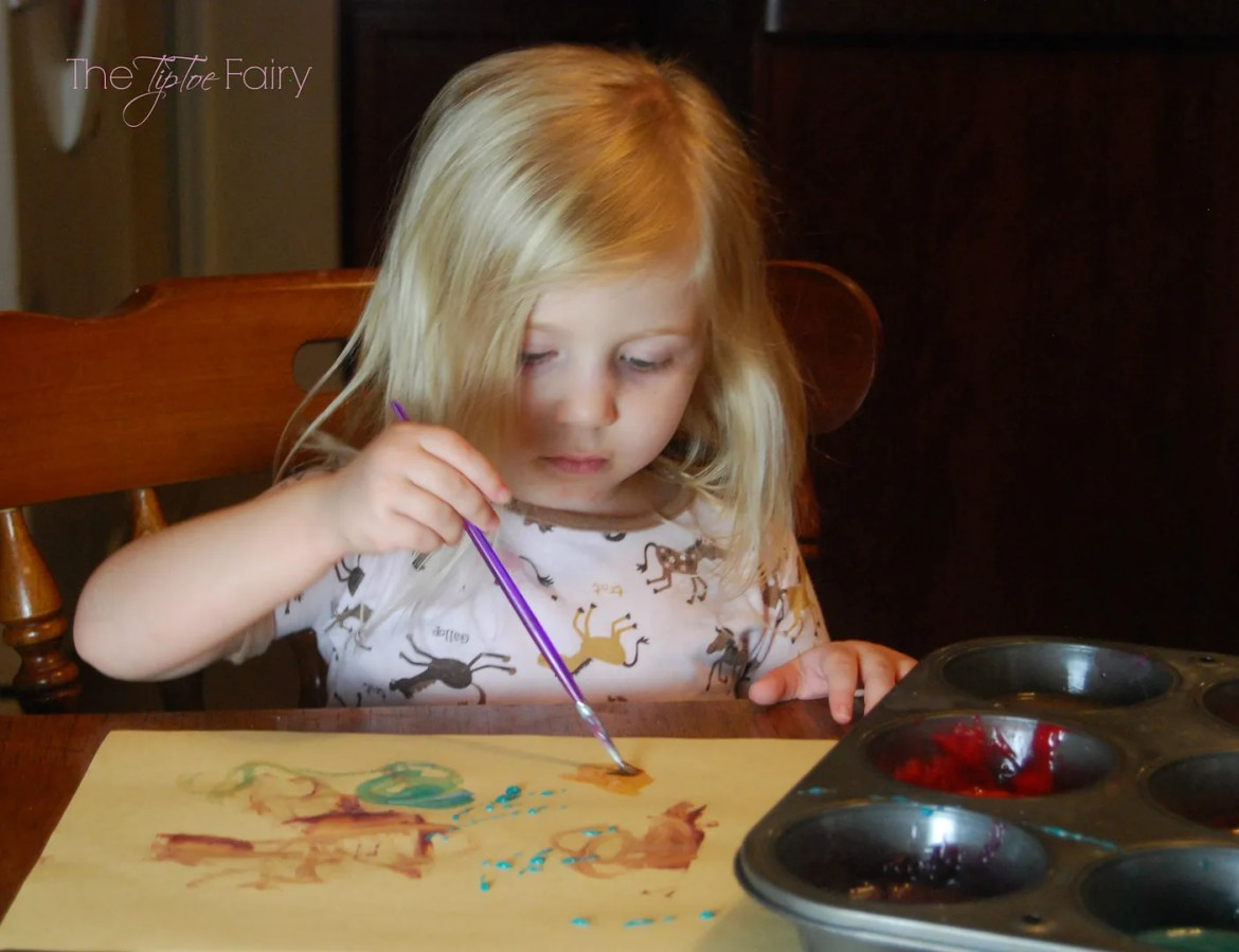 Easy Edible Paints | The TipToe Fairy #edible #crafts #paint #kidsactivities