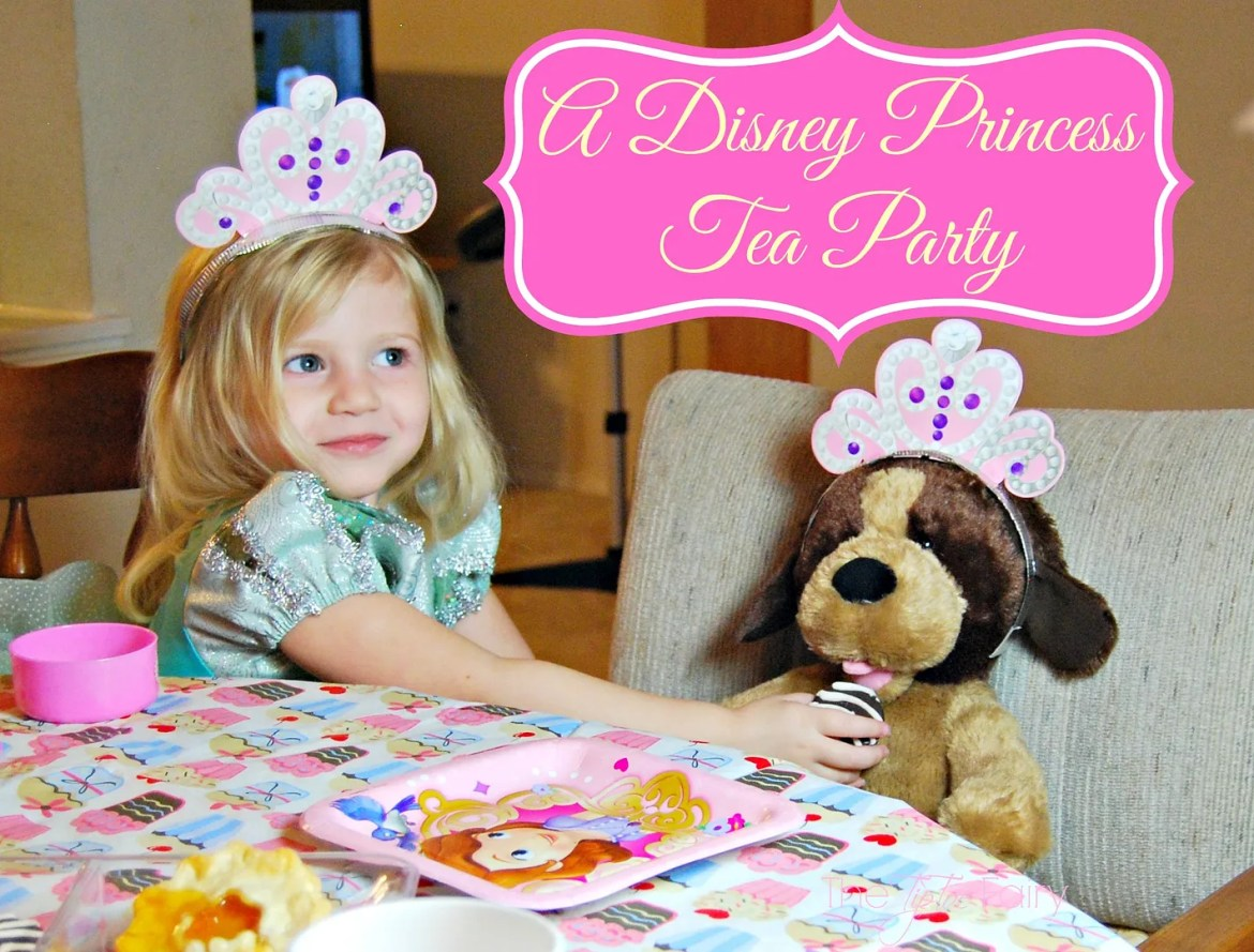 #DisneyBeauties Princess Tea Party with Sleeping Beauty DVD | The TipToe Fairy #CollectiveBias #shop #disney #disneyprincess #princess #teaparty #teapartyforkids #kidspartyideas