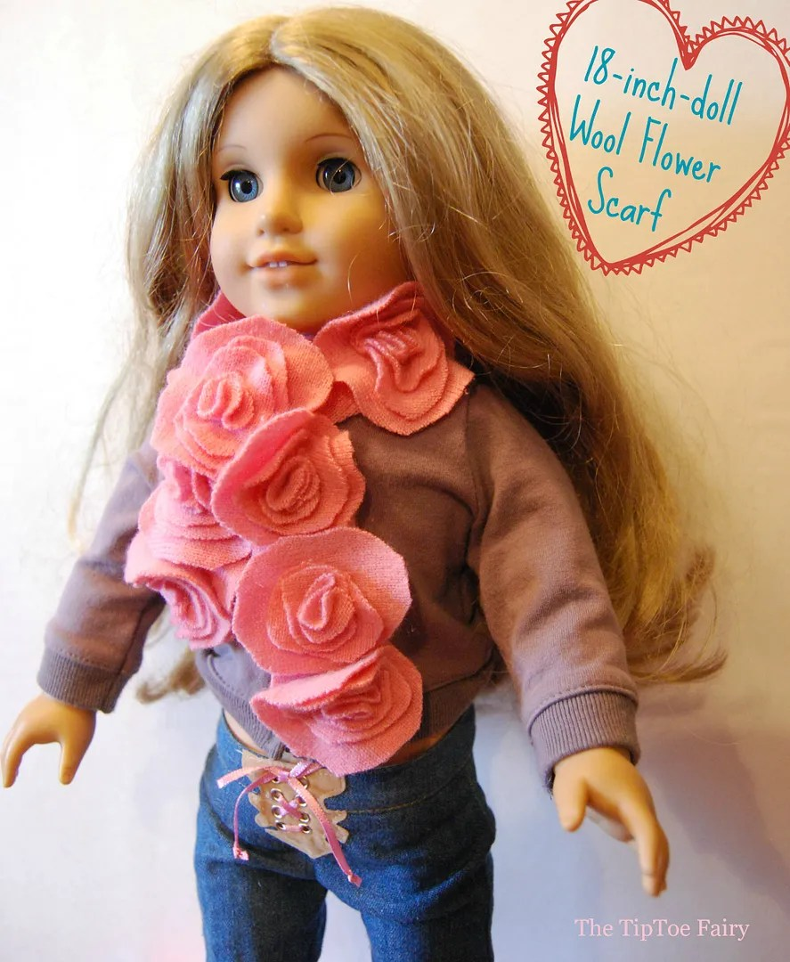 American Girl Flower Scarf Tutorial