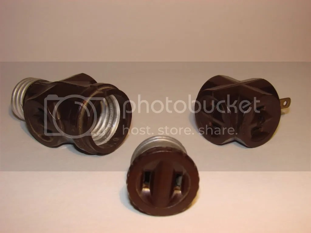 Light Socket Electrical Adapters (Circa 1930's/1940's)