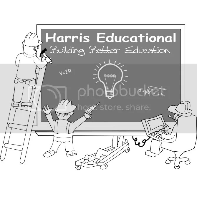 The Harris Educational Logo: Building Better Education