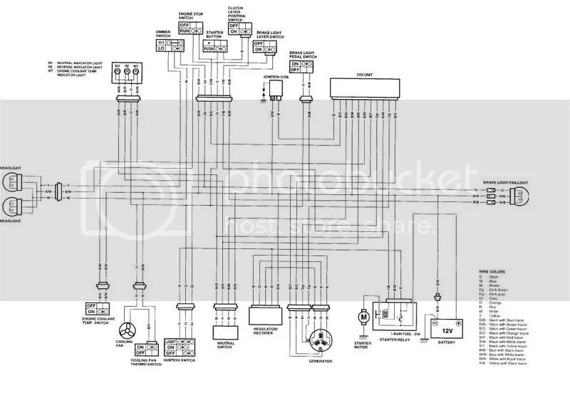 2006 kfx 400 wiring diagram