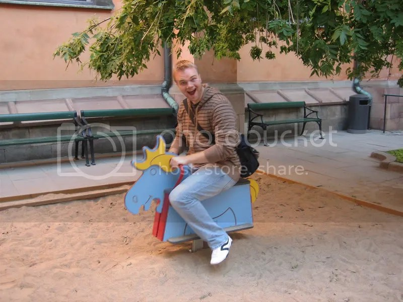 Me Riding Toy Moose