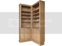 Solid Pine Corner Bookcase, 2.4 Metre Tall Handcrafted ...