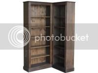 Solid Pine Corner Bookcase, 6ft Tall Adjustable Display ...