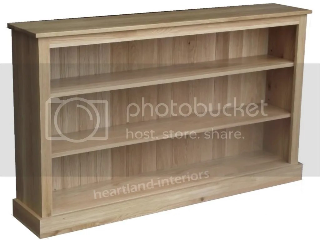 Solid Oak Bookcase Contemporary 5ft Wide Adjustable
