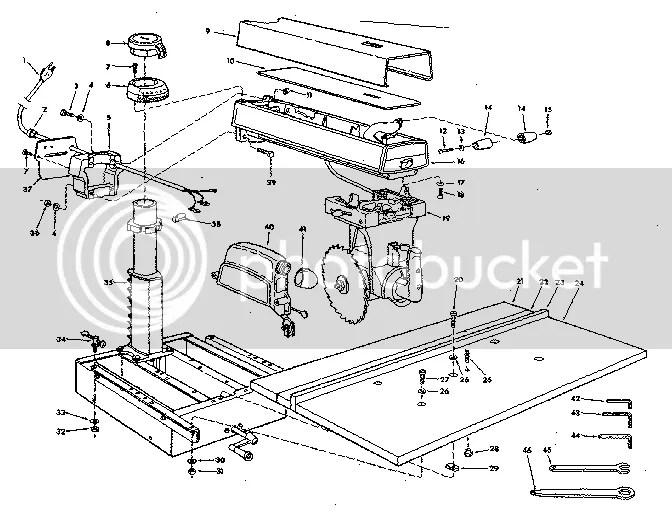 Craftsman 10 Radial Arm Saw Wiring Diagram Craftsman