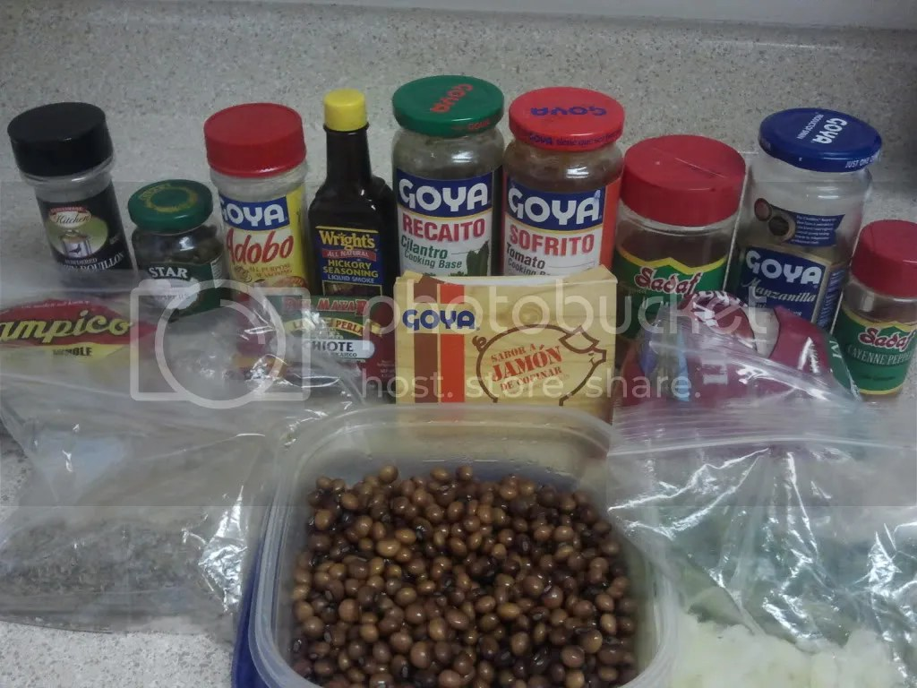 Aceey's Arroz con Gandules Ingredients