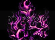 Purple Flaming Skulls Graphics, Pictures, & Images for ...