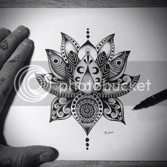 Best lotus flower tattoos designs ideas