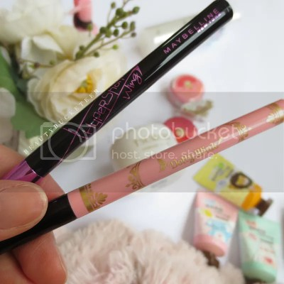 Maybelline Hyper Sharp Wing Liner & Koji Dollywink Liquid Eyeliner Swatches