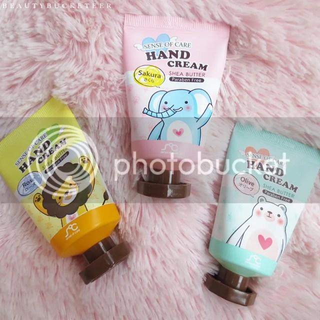 Sense of Care Hand Cream in Rose, Sakura, and Olive