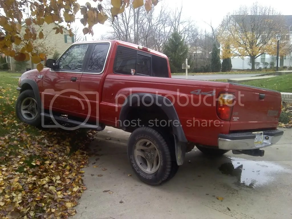 hight resolution of vehicle 2002 mazda b3000 owner alex hoffman pittsburgh pa tires wheels goodyear wrangler rt s on stock rims suspension stock t bars