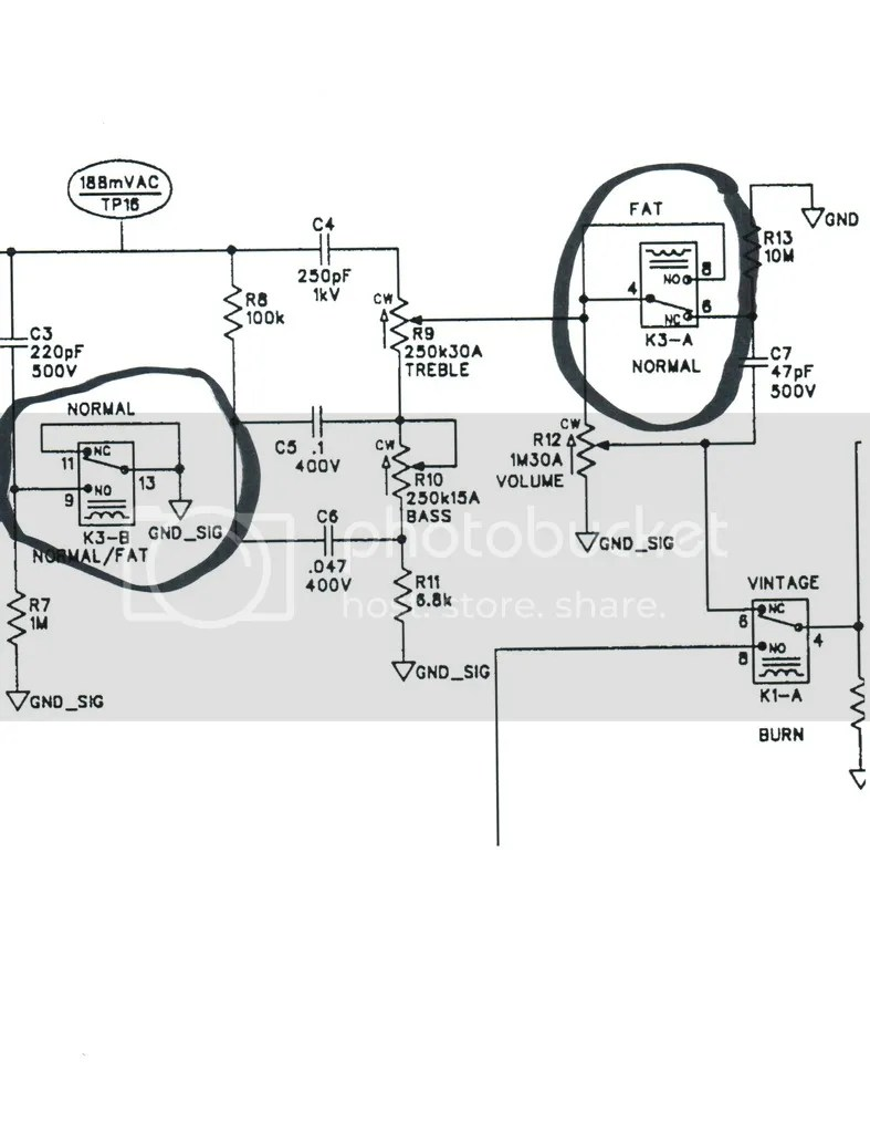 Need help with schematic symbols and Fender switch part