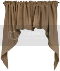 BURLAP SWAG Curtain Window Valance Primitive French ...
